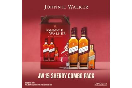 JOHNNIE WALKER BLACK LABEL 15Y SHERRY COMBO